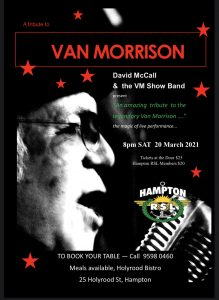 Van Morrison Tribute band
