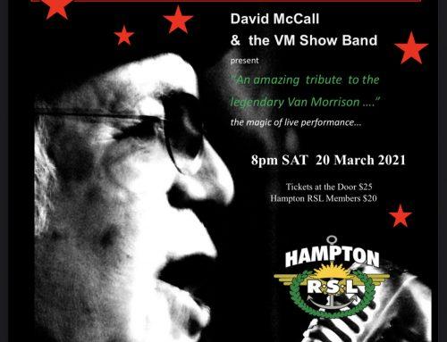 Van Morrison Tribute Saturday 20th March